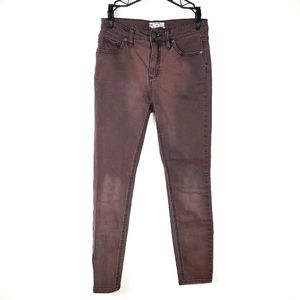 Free People | Red Mocha High Rise Denim Jeans